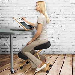 silla ergonomica cinius sin respaldo
