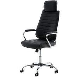 silla clp rako de ordenador tapizada en cuero