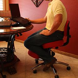 Silla ergonómica Jobri Kneeling con respaldo incluido