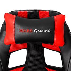 silla para gamers mars gaming mgc2by tela de nylon rojo