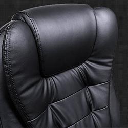 songmics obg51 vista detalle silla con tapizado acolchado y de cuero