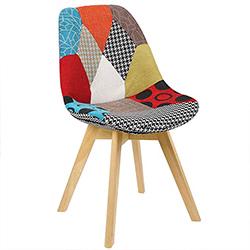 Woltu silla de comedor estilo moderno patchwork alegre