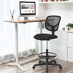 Songmics OBN15BK silla de diseño trabajo mesa alta
