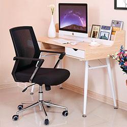 Songmics OBN83B silla para oficinas estudios y escritorio