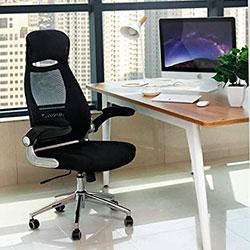 Songmics OBN86BK silla estudio escritorio