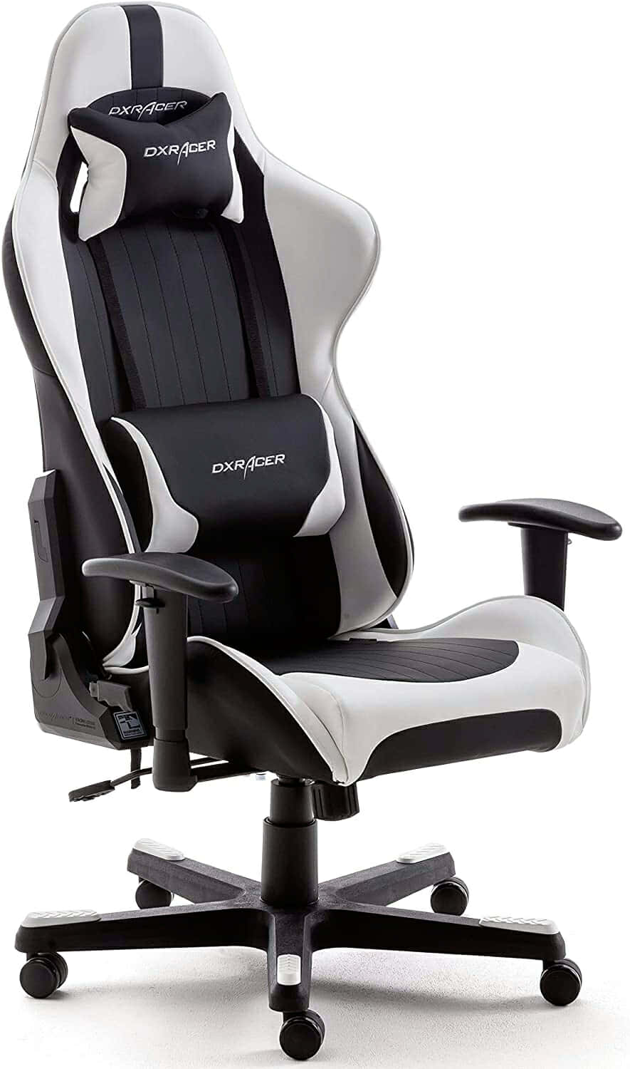 DX Racer 6 62506SW5 - Silla gaming, color negro/blanco, 78 x 52 x 124-134cm