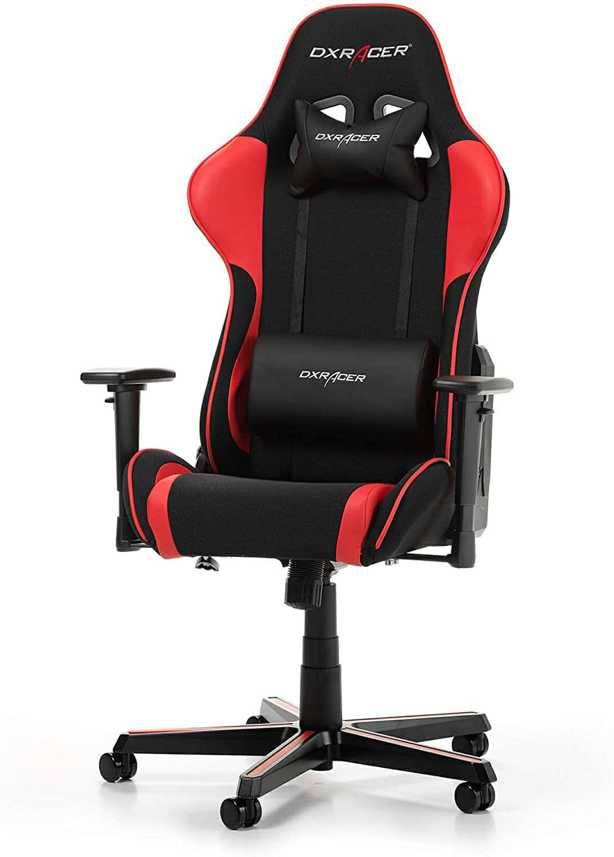 DX RACER Formula F11 Gaming Chair, Black/Red, Tela, Negro/Rojo, 85.5 x 69.7 x 35.2 cm