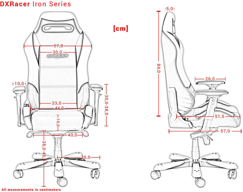 Vista detalle DXRacer Iron I166 imagen 4