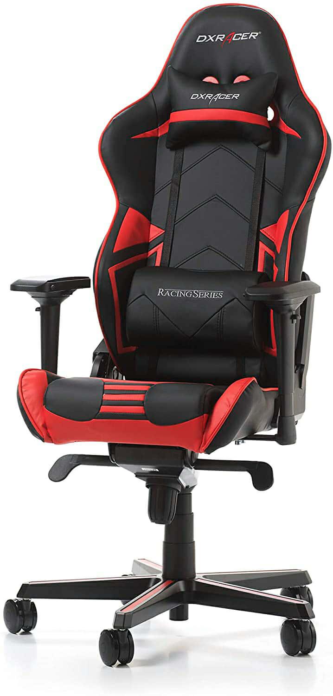 DXRacer (el Original) Racing Pro R131 Silla Gaming, Cuero sintético, Negro & Rojo, 165-195 cm